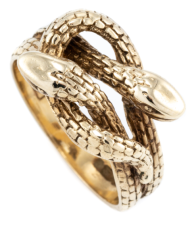 Vintage snake ring, found at Lawsons Auctioneers